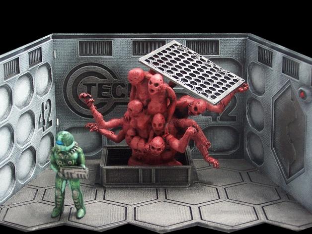 Hatch 42 桌游玩偶 3D打印模型渲染图