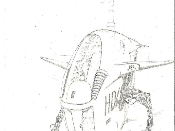 2040未来主义风格飞行器