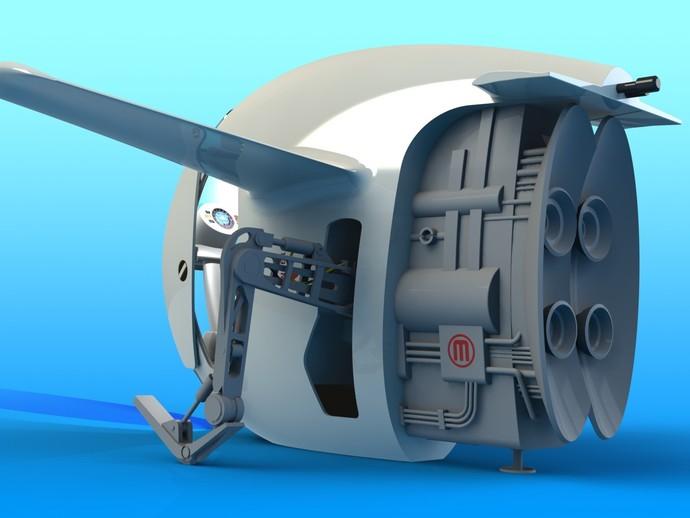 2040未来主义风格飞行器 3D打印模型渲染图