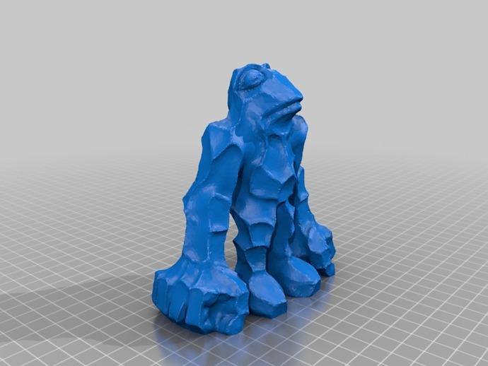 石蛙 3D打印模型渲染图