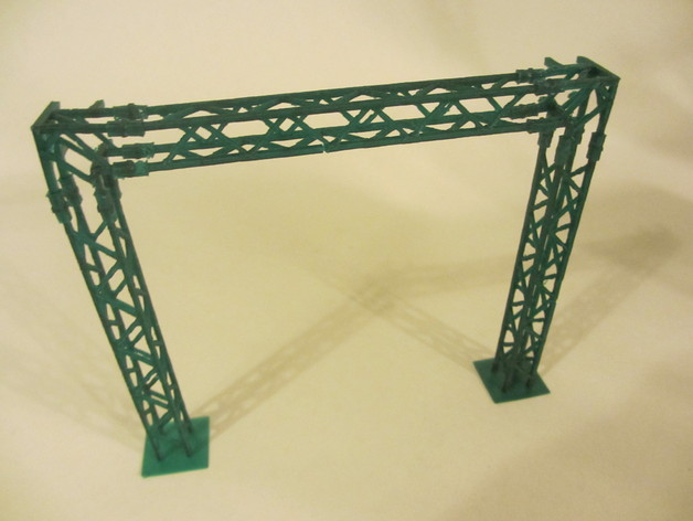 模块化高架结构 3D打印模型渲染图