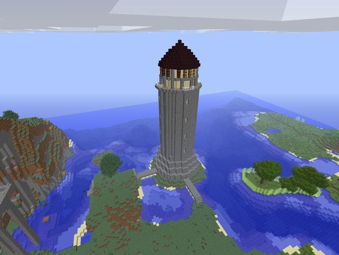 游戏《Minecraft》灯塔