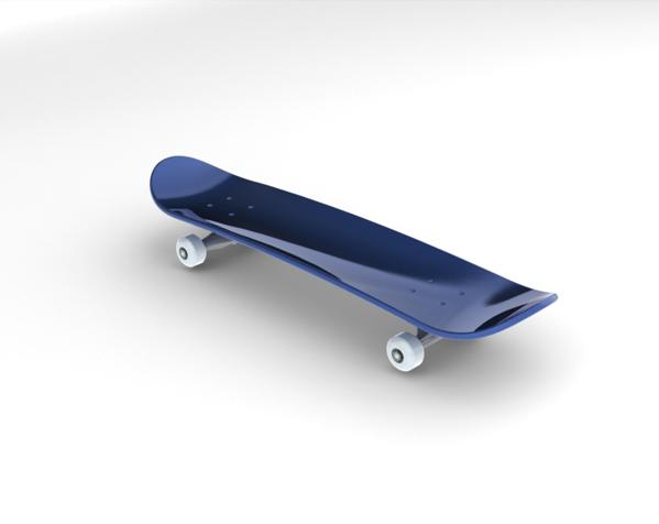 滑板 3D打印模型渲染图