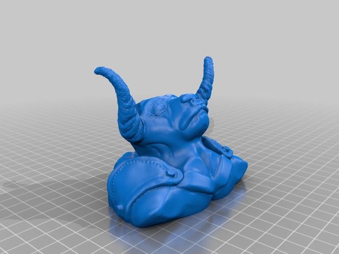 牛头怪 3D打印模型渲染图