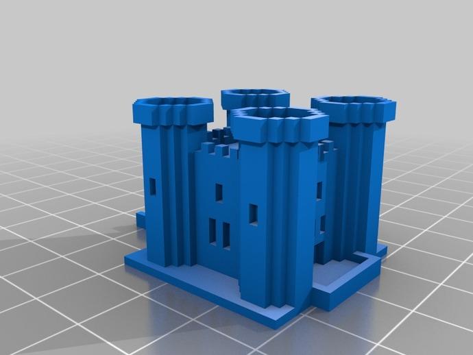 游戏《Minecraft》城堡