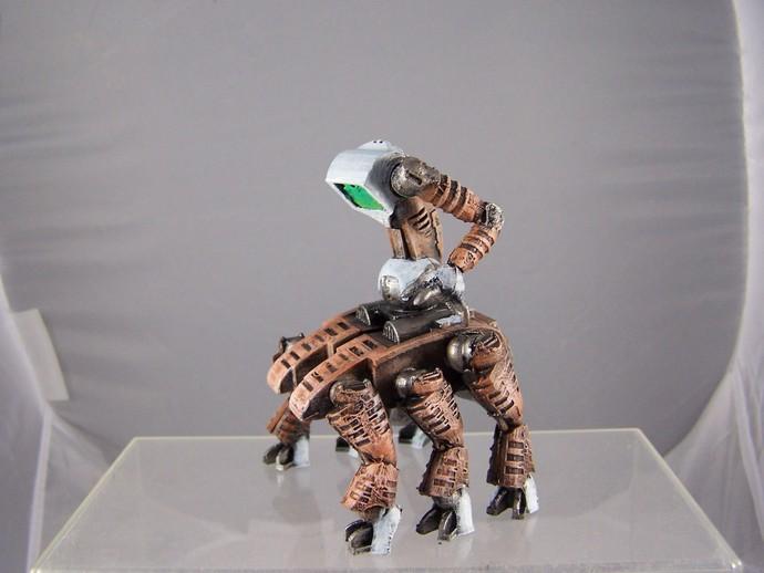 机器奴工 玩偶 3D打印模型渲染图