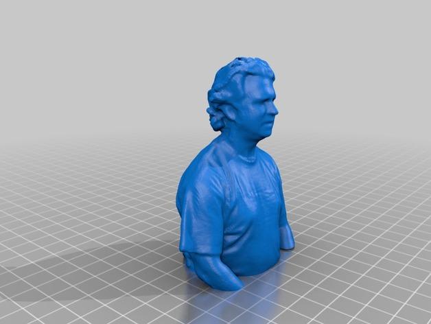 人物半身像 3D打印模型渲染图