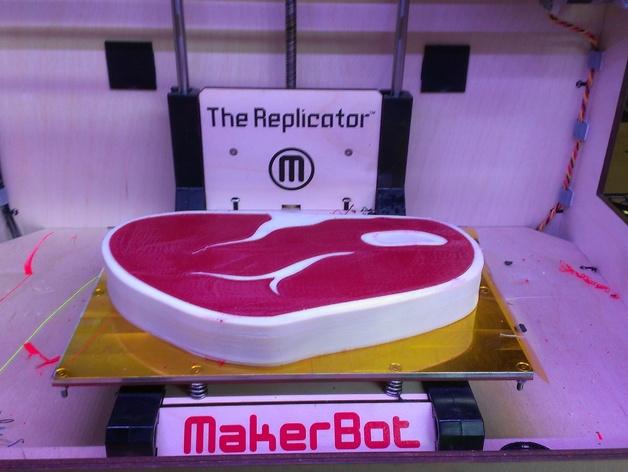 牛排  3D打印模型渲染图