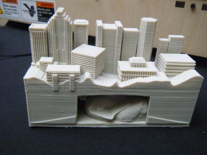 游戏《文明》中的建筑 3D打印模型渲染图