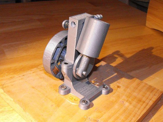 迷你振荡蒸汽机MKI 3D打印模型渲染图