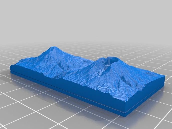 圣海伦火山 地形图