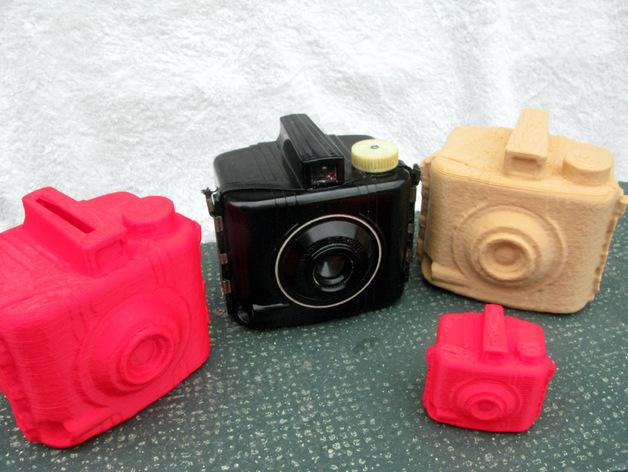 布朗尼相机 存钱罐 3D打印模型渲染图