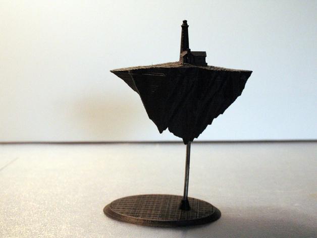 漂浮的灯塔岛  3D打印模型渲染图