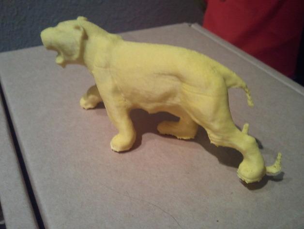 老虎 玩具 3D打印模型渲染图