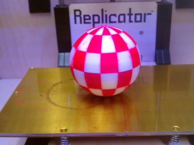 Amiga小球 3D打印模型渲染图