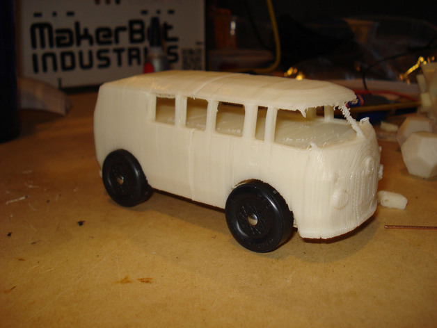 VW公共汽车 3D打印模型渲染图