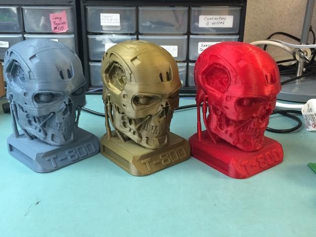 电影《终结者》 T800机器人头像 3D打印模型渲染图