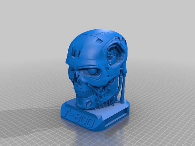 电影《终结者》 T800机器人头像