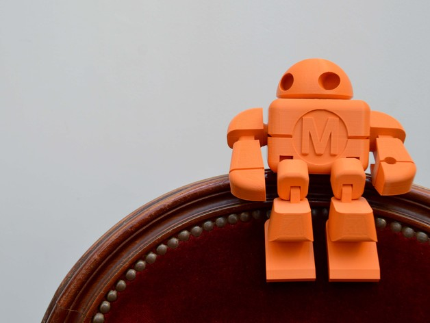 制汇节 机器人 3D打印模型渲染图