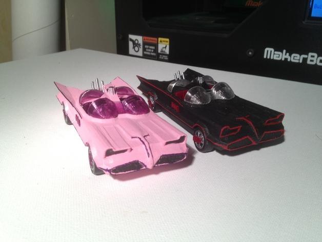 经典蝙蝠车 3D打印模型渲染图