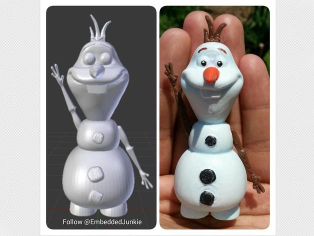 雪宝 Olaf 3D打印模型渲染图