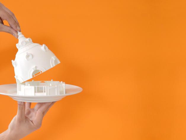 巴黎建筑 圆顶屋 3D打印模型渲染图