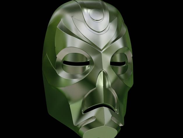 游戏《天际》龙祭司面具