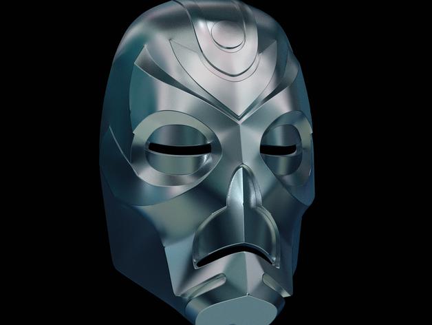 游戏《天际》龙祭司面具 3D打印模型渲染图