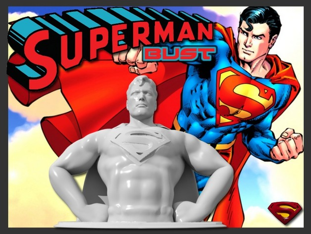 超人 半身像 3D打印模型渲染图