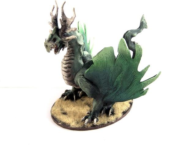 龙 模型 3D打印模型渲染图
