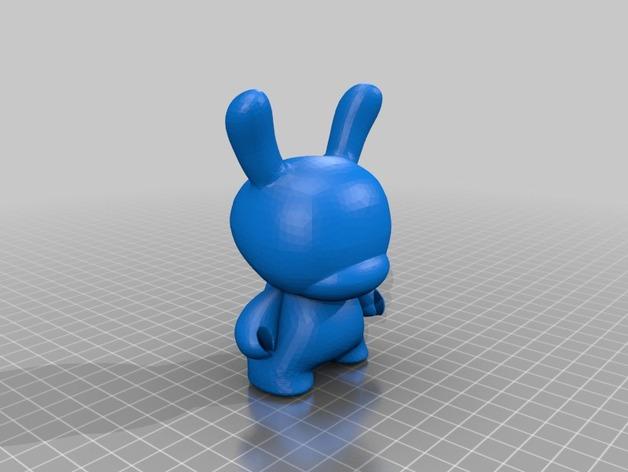 Dunny  玩偶  3D打印模型渲染图