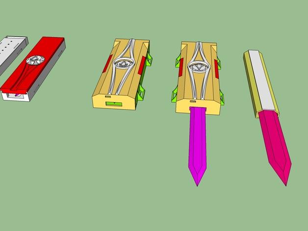 《刺客信条》袖剑  3D打印模型渲染图