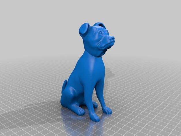 斯塔福狗 3D打印模型渲染图