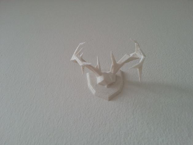 低面数 鹿角 3D打印模型渲染图