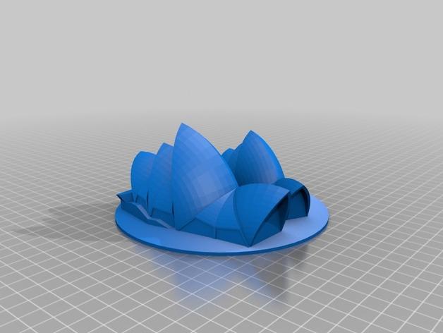 悉尼歌剧院 3D打印模型渲染图
