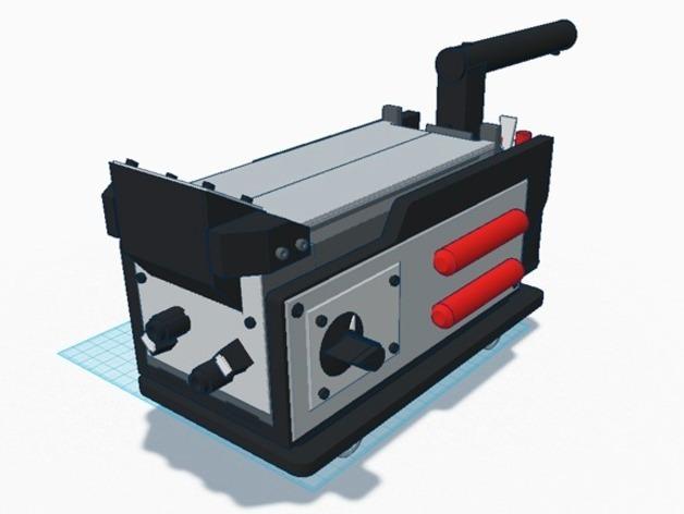 电影《捉鬼敢死队》鬼魂捕捉器  3D打印模型渲染图