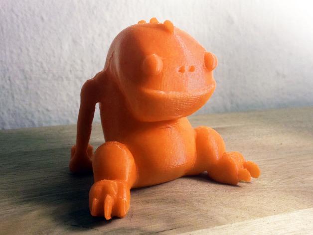 Blinky 玩偶 3D打印模型渲染图