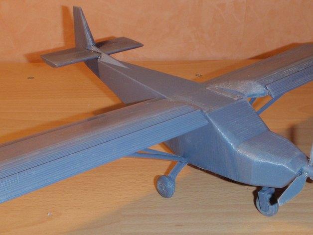CH 701飞机 3D打印模型渲染图