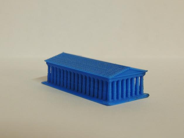 帕台农神殿 3D打印模型渲染图