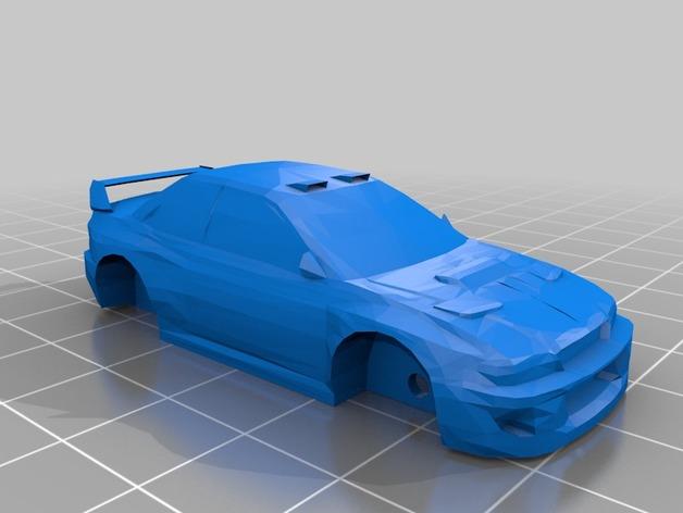 斯巴鲁 翼豹轿车 3D打印模型渲染图