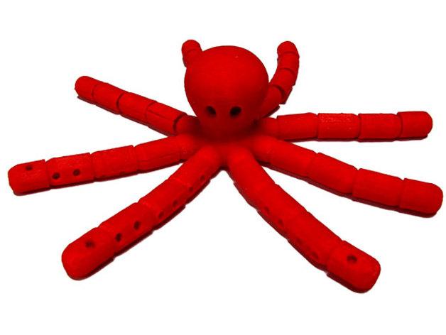 章鱼 3D打印模型渲染图