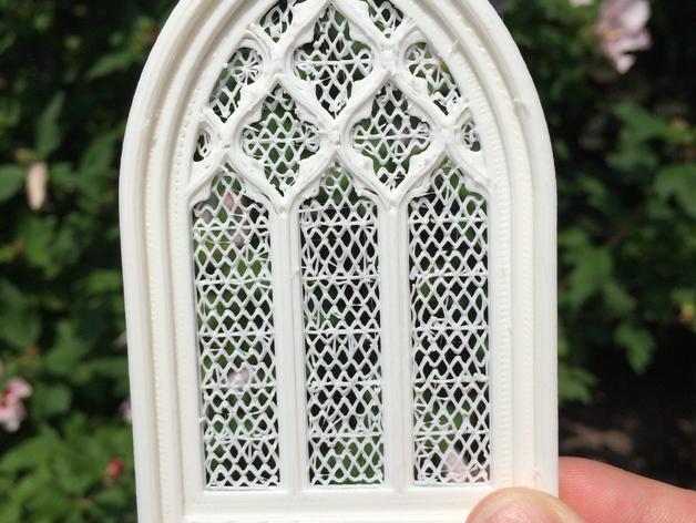 教堂窗户 3D打印模型渲染图