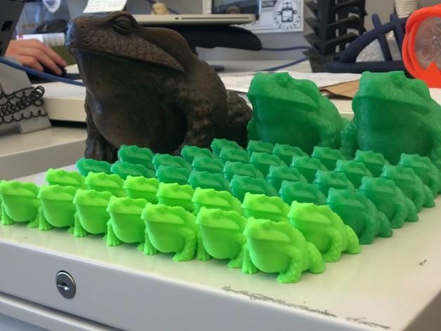 牛蛙 3D打印模型渲染图