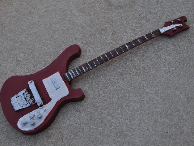 Rickenbacker 4001 贝斯吉他 3D打印模型渲染图