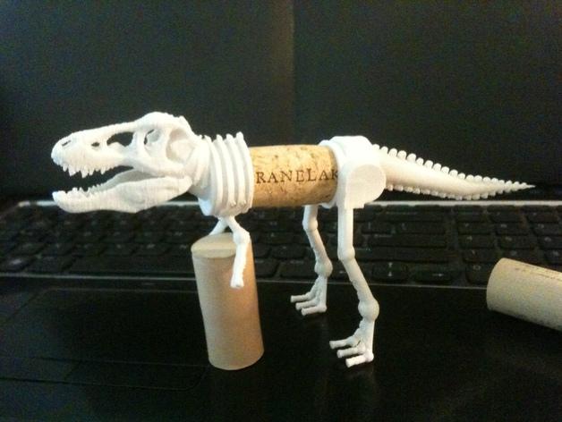 三角恐龙 霸王龙  3D打印模型渲染图