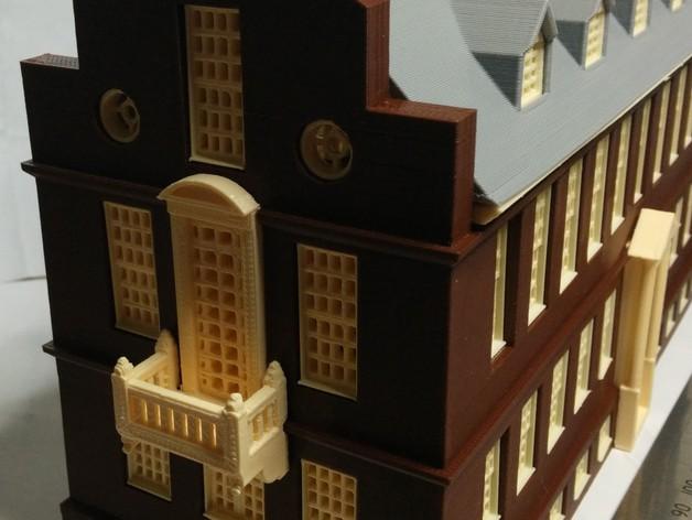 波士顿议会大厦 3D打印模型渲染图