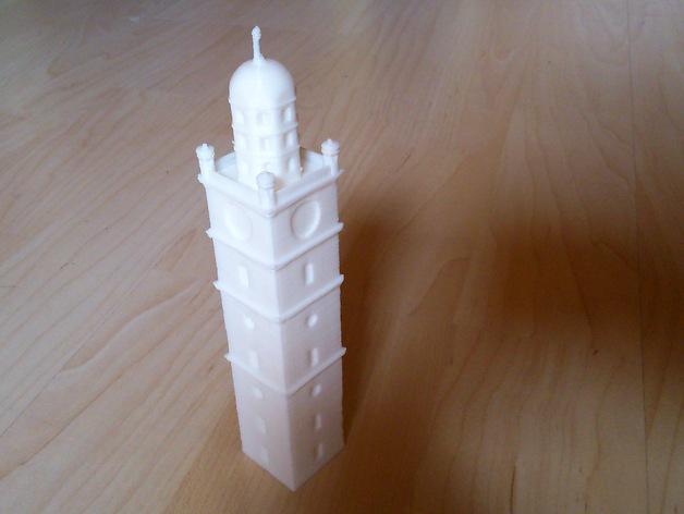 雷根斯堡Blaserturm 塔 3D打印模型渲染图