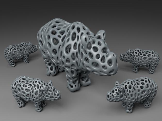 泰森多边形犀牛模型
