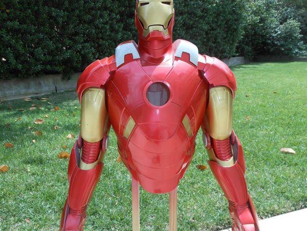 钢铁侠盔甲 3D打印模型渲染图
