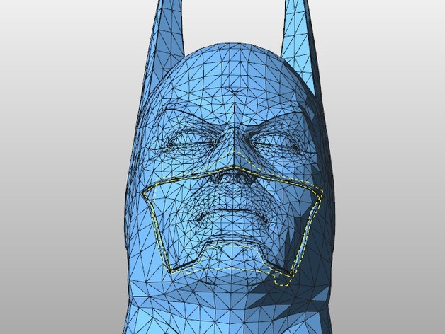 蝙蝠侠 3D打印模型渲染图